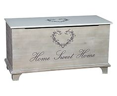 Cassapanca in mdf Home - cm Blanket Box, Blanket Chest, Repurposed Furniture, Painted Furniture, Furniture Making, Diy Furniture, Cedar Chest Redo, Halloween Apothecary Labels, Painted Cupboards