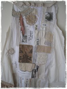 Life size mixed media white on white altered couture,