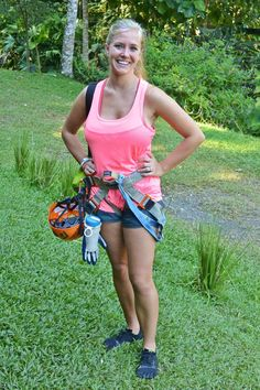 Waterfall Rappelling in Jaco with Tinggly via @myqlepiphany  via @myqlepiphany