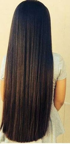 3 Natural Ways to Get Lush Long Hair Long Dark Hair, Very Long Hair, Beautiful Long Hair, Gorgeous Hair, Amazing Hair, Pretty Hairstyles, Straight Hairstyles, Rapunzel Hair, Silky Hair