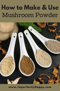 Mushroom powder may quickly become one of your favorite pantry items. It is simple to make and can be used in a variety of ways in your kitchen. Real Food Recipes, Cooking Recipes, Jar Recipes, Freezer Recipes, Freezer Cooking, Drink Recipes, Recipies, Homemade Seasonings, Spice Mixes