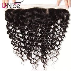 UNice Hair Brazilian Deep Wave Lace Frontal Closure Ear to Ear Free Part Swiss Lace Frontal Unprocessed Brazilian Virgin Human Hair Natural Color frontal) Natural Waves Hair, Loose Waves Hair, Natural Hair Styles, Unice Hair, Brazilian Deep Wave, Human Hair Color, Deep Curly, Body Wave Hair, Peruvian Hair