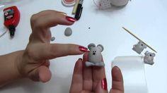 ratoncitos miniatura en porcelanicron para decorar manualidades, lazos, ...