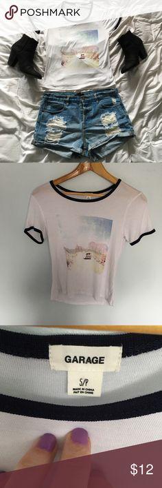 Garage Clothing Brand Graphic Roadtrip Tee Shirt