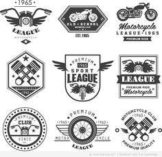 22 Motorcycle Labels and Logos Free Vectors4