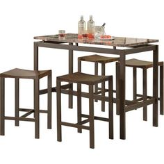 Coaster 5-Piece Counter Height Table and Chair Set, Multiple Colors - Walmart.com