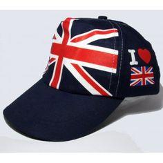 Union Jack ♔ I Love Britain Baseball Cap