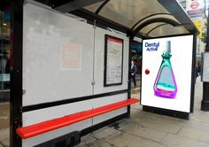 Dentyl Active interactive bus shelter wrap.