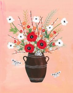 May's Flowers  Archival Art Print by Rebekkaseale on Etsy, $30.00