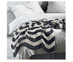 Chevron Throw in Charcoal by Aura, featured on The Block available at Forty Winks Shelf Furniture, Kids Furniture, Bedroom Furniture, Best Baby Carrier, Chevron Blanket, Monochrome Color, Manta Crochet, Small Apartments, Home Accessories