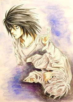 Death Note.   L and Near.     http://blogs.yahoo.co.jp/ogino_toratora22_milkyway