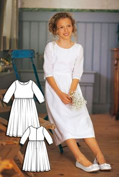 Ava Girls Long Modest Dress | Girls Maxi Dress Sizes 5-10 | MODEST ...