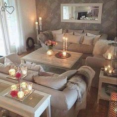 Such a cozy living room! Such a cozy living room! The post Such a cozy living room! appeared first o Cozy Living Rooms, Home Living Room, Apartment Living, Interior Design Living Room, Living Room Designs, Living Room Decor, Living Spaces, Home Fashion, Living Room Inspiration
