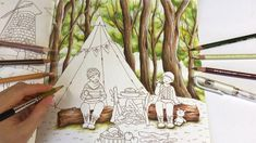 Let's Camping - Part 1: Tree Coloring | Romantic Country Coloring Book