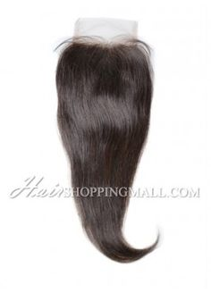 """#2 Lace Closure Indian Remy Hair 4X4"""" Straight [CI03]"""