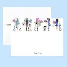 Send sweet thank you notes for all your holiday swag with monogrammed flat note cards- choose your name or initials, font style and color. 20 Cards and envelopes for $40. Ships in two days....a quick, customized fashion gift for January bdays!