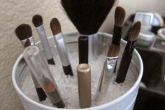 Simple Makeup Organization from Putting Me Together blog. Great Idea!