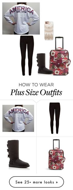 """Untitled #823"" by jackelinhernandez on Polyvore featuring Vera Bradley, UGG Australia and Casetify"