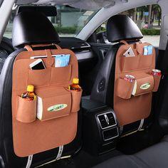 2017 Nouveau Coup de voiture sac automobile voiture voyage back sac Multifonctionnel poche de siège de voiture back sacs Portable voyage sac