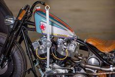 "Harley-Davidson Bobber Shovelhead ""Wrench"" by MG Customs (Slovenia) #motorcycles #bobber #motos | caferacerpasion.com"