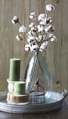 These Small Cotton Stems make a big impact in any space! Add to a vase for a beautiful centerpiece!
