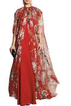 Dolce   Gabbana - Printed silk-chiffon cape fca09a6bf88