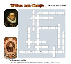 Willem van Oranje Kruiswoordpuzzel School Classroom, Primary School, Teaching, History, Elementary Schools, Learning, Education, Historia, History Books