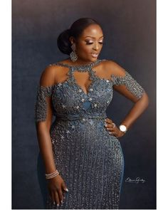 Vol 4 of EsB TV Weddings Plus size Custom Made bridal gown and After Party Outfits Nigerian Lace Styles, African Lace Styles, African Lace Dresses, Latest African Fashion Dresses, African Print Fashion, Lace Dress Styles, Shrug For Dresses, Vestido Charro, African Wedding Attire