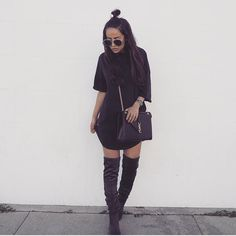 """How bomb does @shararehsophia look in our """"Jamie"""" boots  She slayed this outfit"""