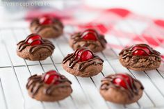 Chocolate Covered Cherry Cookies for Valentine's Day!