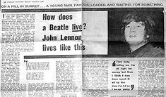 "John Lennon Interview: London Evening Standard 3/4/1966 - How Does A Beatle Live? Maureen Cleave - ""We're More popular than Jesus Now"" - Beatles Interviews Database"