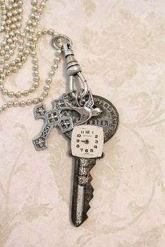 old keys and charms