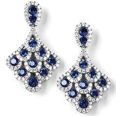 """Whitland"" Diamond & Gemstone Earrings - Diamond & Gemstone Earrings | Earrings | Diamond Jewellery"