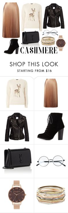 Winter's Cashmere! by bloguerosa on Polyvore featuring Dorothy Perkins, Anine Bing, Miss Selfridge, Charlotte Russe, Yves Saint Laurent, Kendra Scott and Olivia Burton