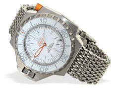 Armbanduhr: neuwertige, professionelle Tiefsee-Taucheruhr Omega Seamaster Ploprof Co-Axial Chronomet