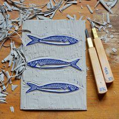 linogravure sardines la fabutineuse 6
