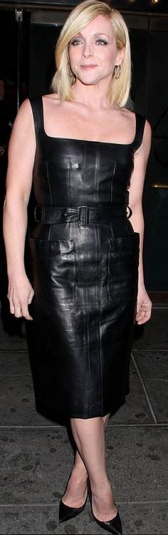 Who made Jane Krakowski's black belted dress and pumps that she wore in New York on April Dress – Alexander McQueen Shoes – Saint Laurent Belted Dress, Bodycon Dress, Jane Krakowski, Alexander Mcqueen Shoes, Saint Laurent Shoes, Guys And Dolls, Charlize Theron, Celebs, Celebrities
