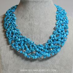 Golnar Jewelry - NECKLACE TURQUOISE CHUNKY , $225.00 (http://www.golnarjewelry.com/necklace-turquoise-chunky/)