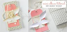 mini album tutorial - quick and easy tutorial by Janna Werner