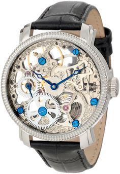 Amazon.com: Akribos XXIV Men's AKR418SS Bravura Mechanical Skeleton Stainless Watch: Clothing