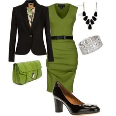 """Fall work outfit"" by lmspowellhr on Polyvore Not a fan of the shoes, but love everything else"