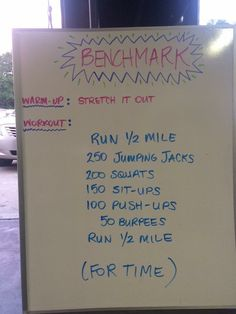 Benchmark Bootcamp Workout!