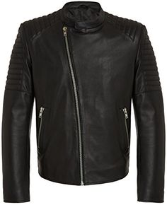 RADDAR7 Designer Mode Homme - Blouson en Cuir Veritable Noir Style Urban  Rock - Veste de 6798367109b3