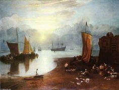 Soleil levant à travers Vagour; Pêcheurs de nettoyage et Sellilng poisson.