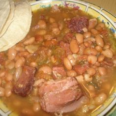 """This is an authentic recipe right out of Mexico """"Frijoles Charros"""" Mexican Cowbo. This is an authentic recipe right out of Mexico """"Frijoles Charros"""" Mexican Authentic Mexican Recipes, Mexican Food Recipes, Ethnic Recipes, Comida Latina, Charro Beans, Bo Bun, Crockpot Recipes, Cooking Recipes, Cowboy Beans"""