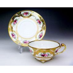 Old Noritake Marquis back mark Rose & GOLD tea cup and saucer EAST LINK ~ East link - In Meissen, Old Noritake, antique goods sales, such as Worcester | Product Details