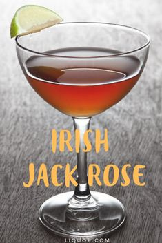 This classic Irish whiskey cocktail is the perfect St. This sweet and fruity cocktail will be a favorite at your St. Whiskey Cocktails, Classic Cocktails, Cocktail Drinks, Fun Drinks, Alcoholic Drinks, Beverages, Cocktail Ideas, Cocktail Recipes, Drink Recipes