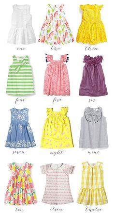 twelve spring dresses for girls || thrifty littles blog #girlsdresses #dresses