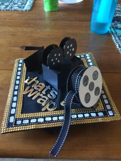 This was my graduation cap for my Community College as a Broadcast Communications Major