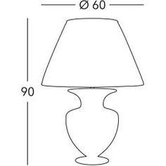 Kolarz® Tischleuchte Anfora in Libertà White/Antique, Höhe 90cm Anfora 0423.71l.wa Kolarz
